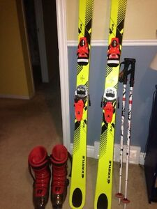Park twin tip skis for sale, full tilt boots, line pole