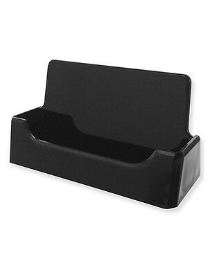 Two 2 Black Business Card Display Stand Holders