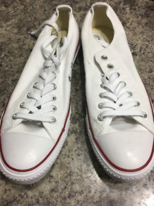 Converse all star low cut white sneakers
