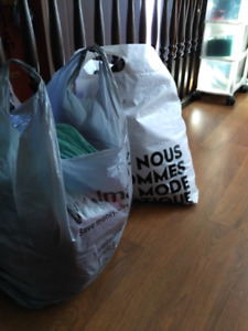 2 bags of clothes