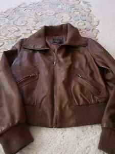 Leather jacket large great for fall Kitchener / Waterloo Kitchener Area image 1