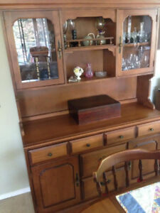 Maple dining hutch - Langley