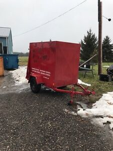 Utility trailer work trailer motorcycle enclosed ramp London Ontario image 1