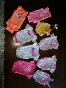 5 Puma Onesies - 3 Joe Onesies and a New Gymboree Bathing Suit