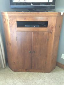 Corner Pine Cabinet
