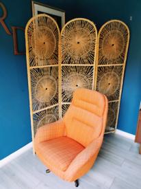 Beautiful Retro Boho Cane Bamboo Room Divider