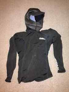O'Neill Thermo 8oz Neo-Hooded Long Sleeve, Black, XS