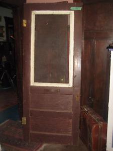 """rustic antique solid wood """"Hartford"""" style Screen Door"""