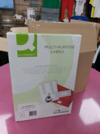 Brand New Q-Connect Multi-purpose A4 Labels Pk 100 Sheets x10 Pks Avai