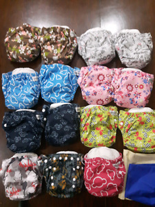 16 cloths diapers
