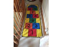 Boys/girls hopscotch rug