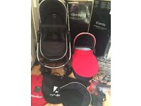 Icandy strawberry travel system, seat unit,carry cot plus lots of extras!
