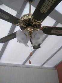 Ceiling fan four lights