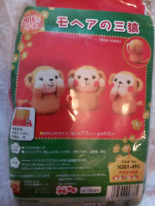 Crochet set 3 monkeys