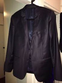 DKNY Navy Suit, Size 38L, Slim Fit