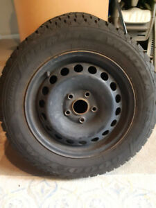 195/65/R15 Goodyear Nordic Winter tires (x4) with rims.