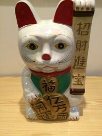Large Chinese Style Lucky Cat