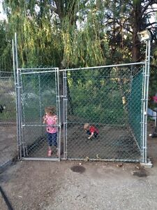 Coated chain link kennel
