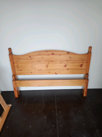 Pine double bed - Delivery available!