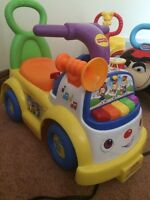 Fisher Price music ride along toddler