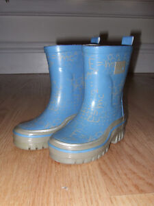 Mexx Toddler Rainboots - Blue & Grey, Size 6