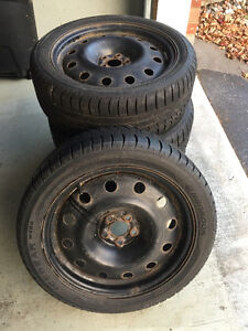 205/50 R17 HANCOOK  ICEBEAR W300 WINTER TIRES AND RIMS