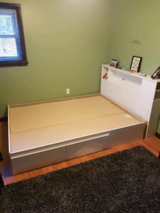 Captain's Queen Bed and small dresser