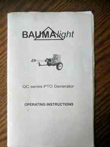 Tractor/PTO generator *** SALE OF THIS IS ON HOLD FOR A WEEK***