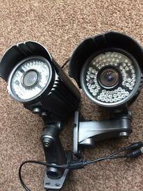 2 X 72ir 60m bullet CCTV cameras