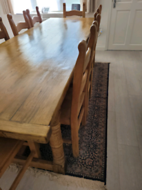 Dinning Table & 12 Chairs