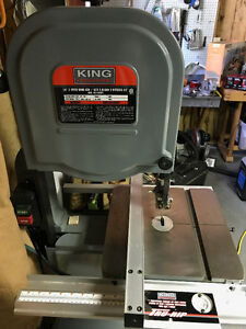 King 14 inch 3 speed band saw with riser block and blades