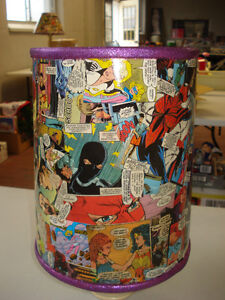 Female super action hero lampshade  Hand made one of a kind Peterborough Peterborough Area image 3
