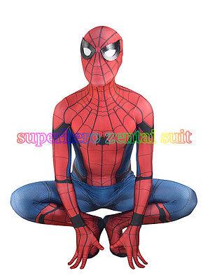 2017 Spiderman Homecoming Movie Costume 3D Print Halloween Cosplay Zentai Suit