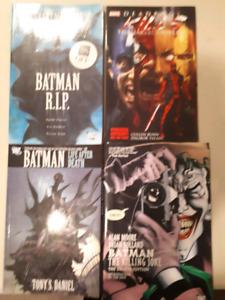 4 graphic novels, Batman, Deadpool