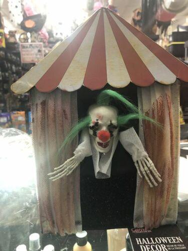 Halloween ANIMATED EVIL CLOWN BOX PROP. Sound/lights - Clown Prop