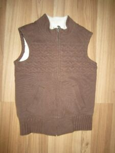 """GIRLS BROWN """"OLD NAVY"""" VEST - SIZE 8 - JUST LIKE NEW!"""