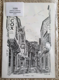 Signed Lithogram Drawing of The Shambles. York.
