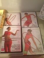 Set of 4 Hooping DVDs Hula Hoop like a pro