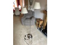 Double Standard Lamp brushed steel
