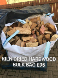KILN DRIED HARDWOOD BULK BAGS FIREWOOD LOGS BLOCKS KINDLING