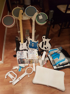 Complete Wii kit (RockBand, Just Dance, Wii Fit, Dance Dance)