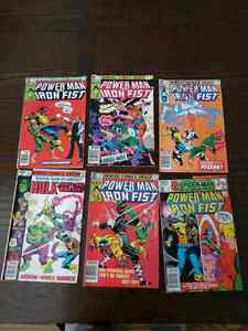 Marvel comics. POWER MAN AND IRON FIST lot of 6