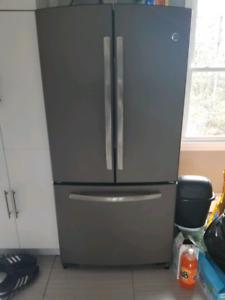 GE slate double door fridge