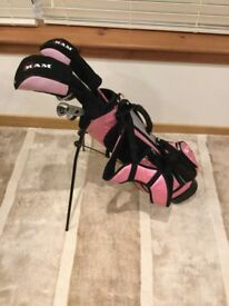 Girl's RAM golf set in pink