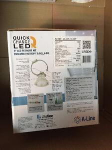 "6"" LED recessed light fixture retrofit kit - $60 each 3 total Oakville / Halton Region Toronto (GTA) image 4"