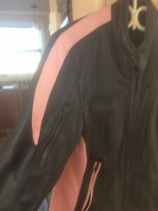 LADIES Motorcycle  Leather Coat   Beautiful! size 14