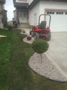 Landscaping , final grade , lawn maintenance