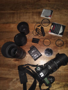 Nikon D7000 Camera, 3 Lenses, Filters, and second Battery