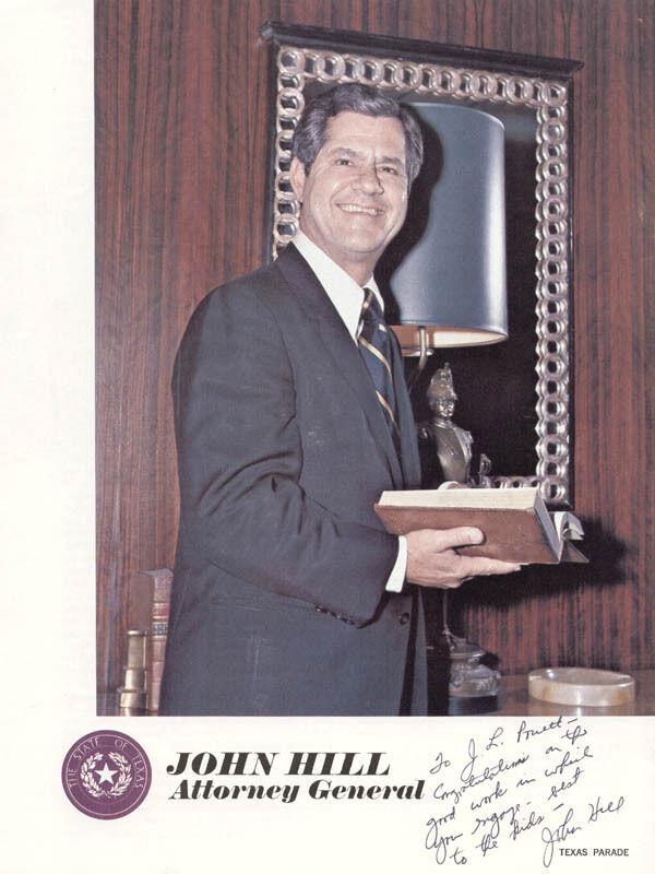 JOHN HILL - INSCRIBED BOOKLET SIGNED