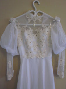 GORGEOUS Hademade Victorian Gown w/ Lace -White, Size 4